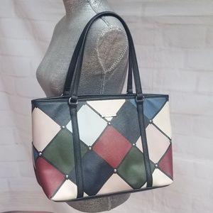 Dana Buchman  Color Block Style Shoulder Bag